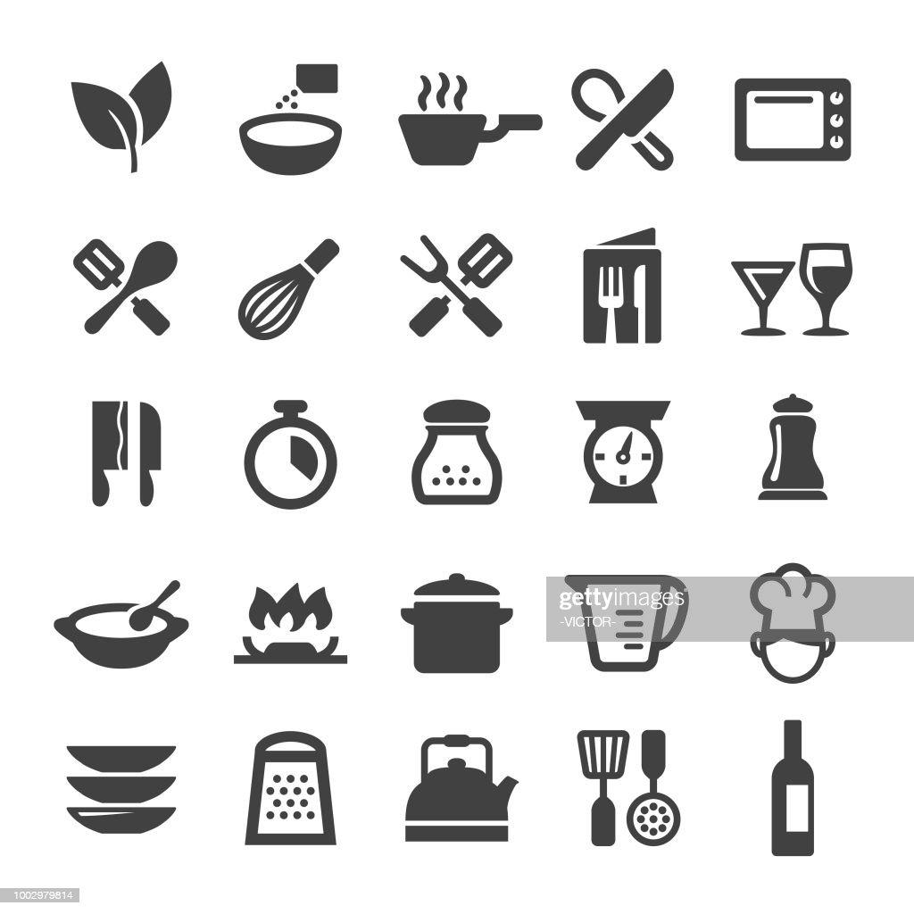 料理アイコン - スマート シリーズ : ストックイラストレーション
