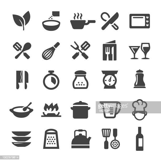 cooking icons - smart series - kitchen scale stock illustrations, clip art, cartoons, & icons