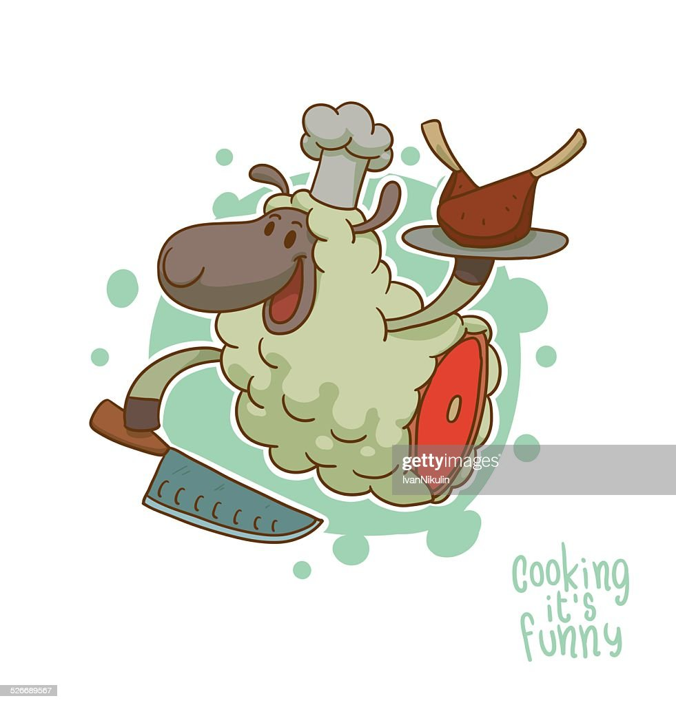 Cooking it is funny, Lamb