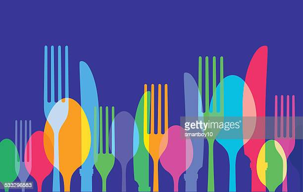 cooking or eating utensils - kitchenware department stock illustrations, clip art, cartoons, & icons