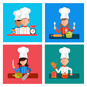 Cooking serve meals and food preparation elements