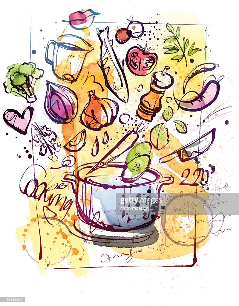 Cooking Sketch