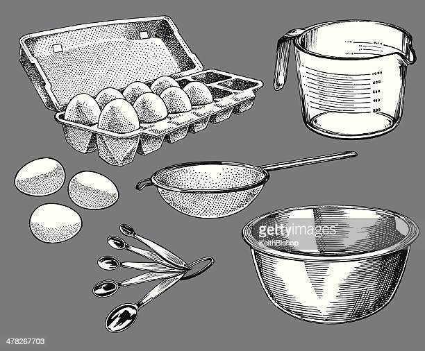 Cooking Tools - Carton of Eggs, Measuring Cup