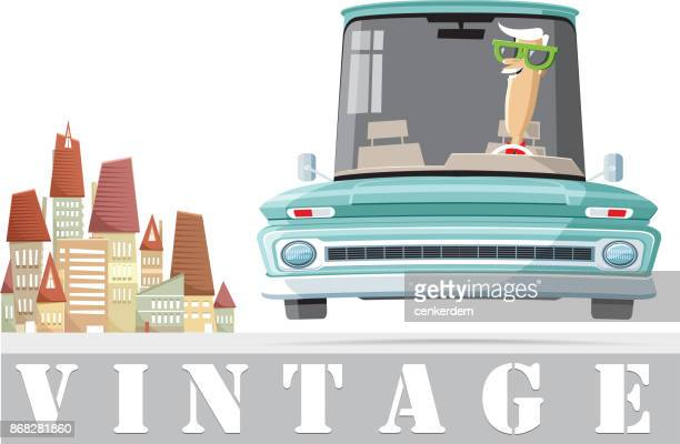 cool american car - car ownership stock illustrations, clip art, cartoons, & icons