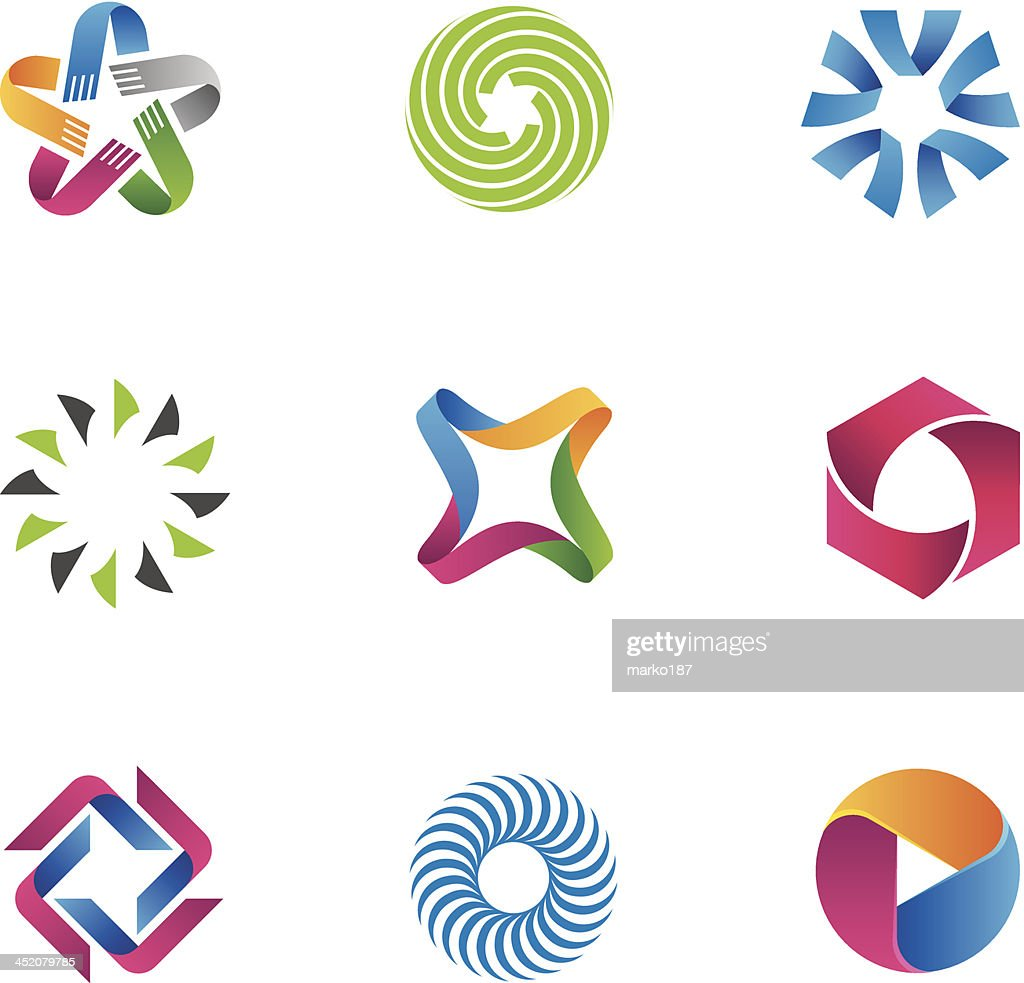 Cool and colorful symbols