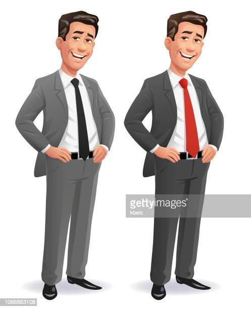 cool businessman - businessman stock illustrations