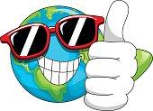 Cool Cartoon Earth sunglasses