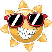 Cool Cartoon Sun sunglasses