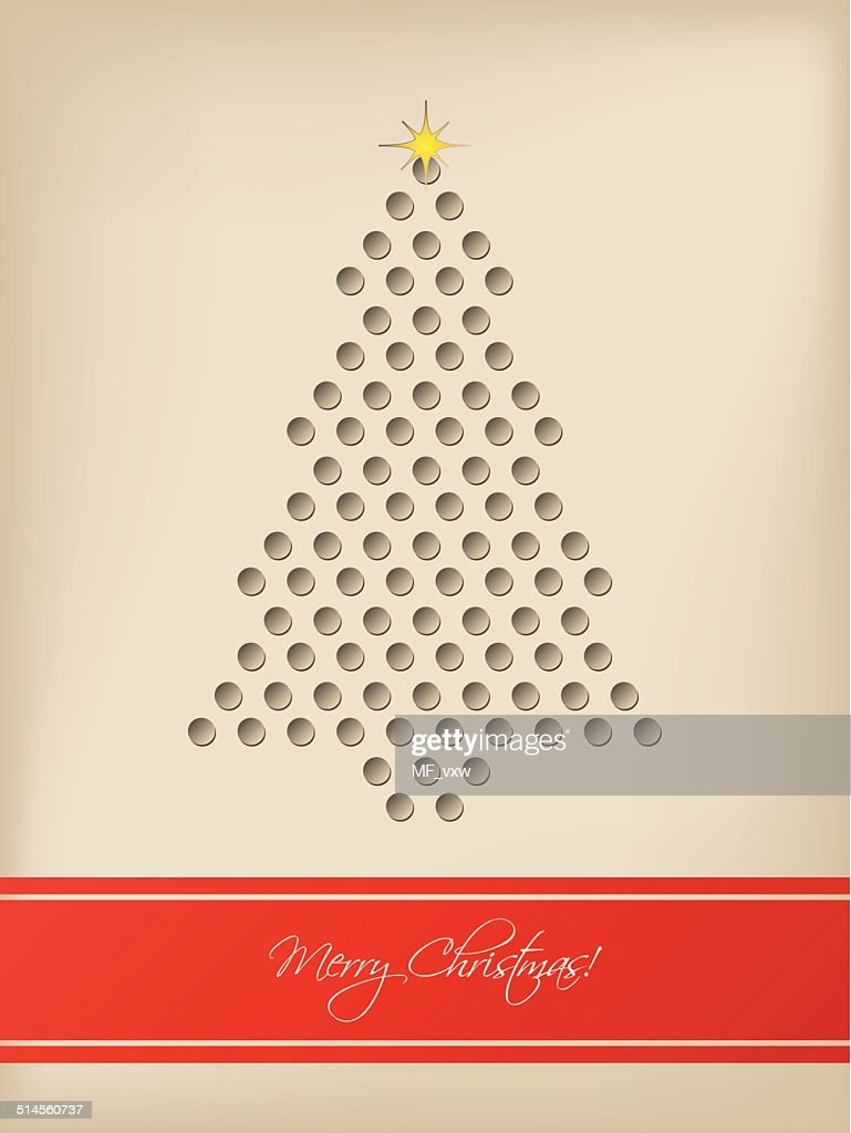 Cool christmas card with tree shaped 3d dots vector art getty images cool christmas card with tree shaped 3d dots vector art m4hsunfo