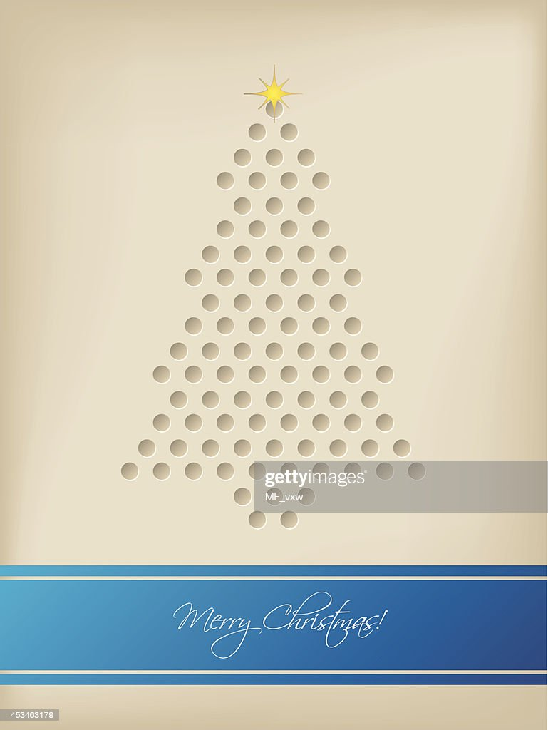 Cool christmas card with tree shaped dots vector art getty images cool christmas card with tree shaped dots vector art m4hsunfo