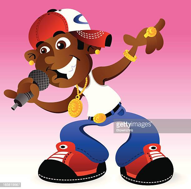 cool hip hop dude - bling bling stock illustrations, clip art, cartoons, & icons