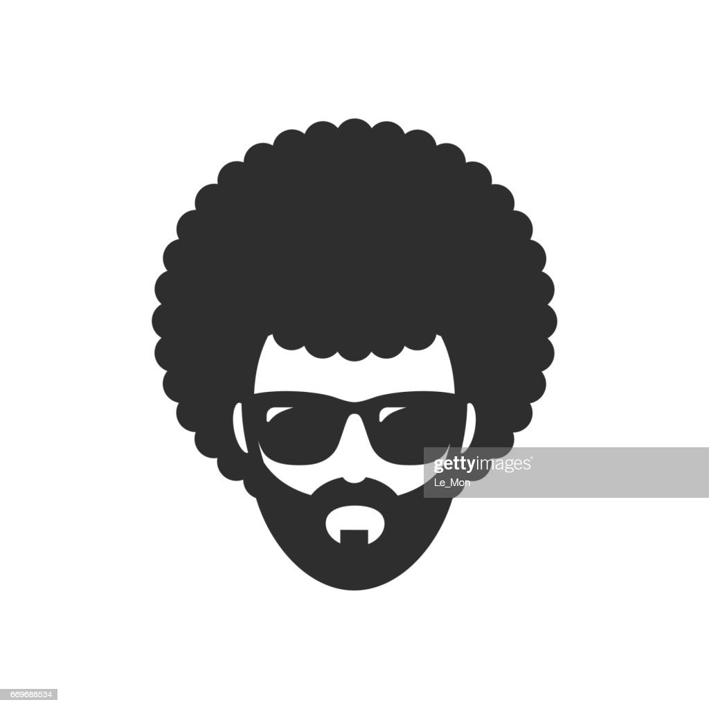 Cool man. Afro Haircut. African