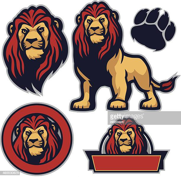 cool pack lion - lion stock illustrations