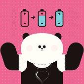 Cool panda: love is powerful