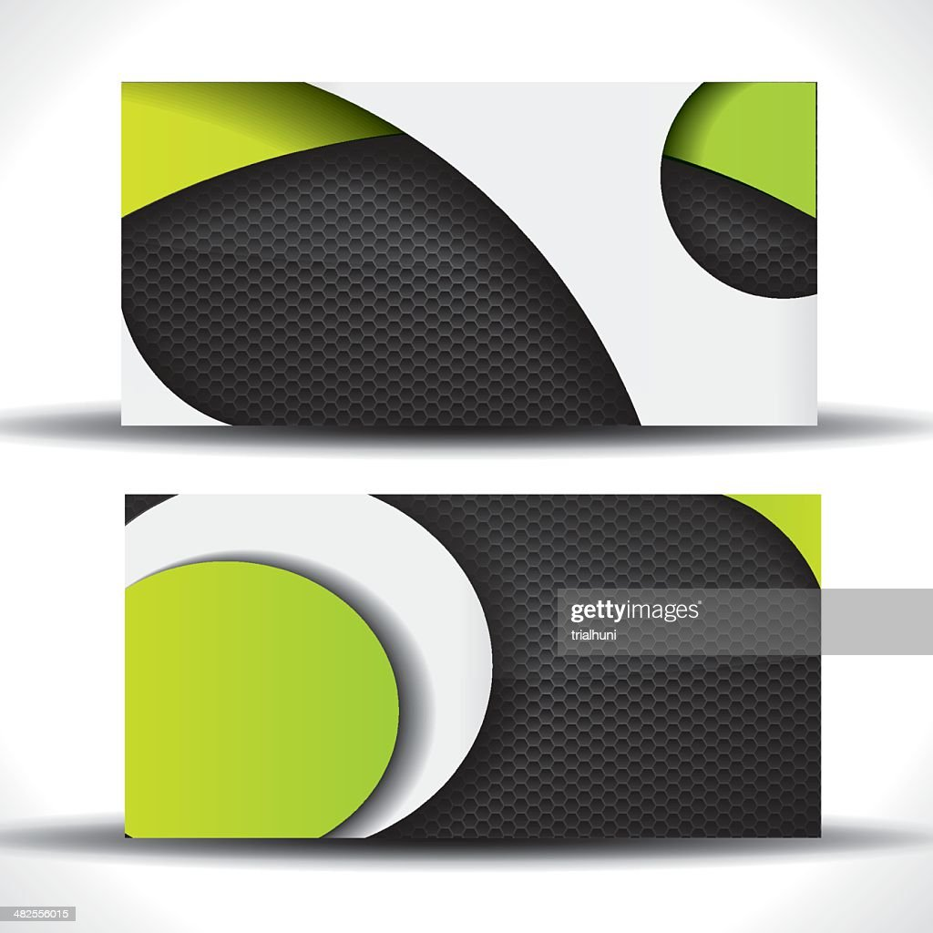 Cool vibrant business card - green and black colors