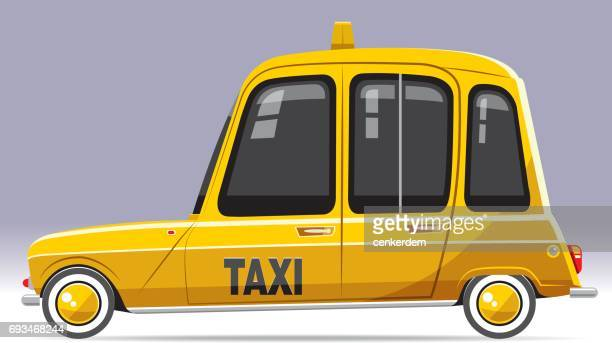 cool vintage taxi - taxi stock illustrations, clip art, cartoons, & icons