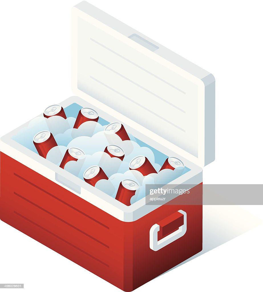Cooler With Soda : stock illustration