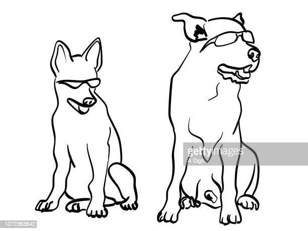 illustrations, cliparts, dessins animés et icônes de chiens plus cool sur le bloc - chien humour