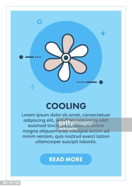 cooling concept banner - medical ventilator stock illustrations, clip art, cartoons, & icons