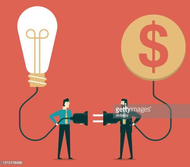 illustrazioni stock, clip art, cartoni animati e icone di tendenza di cooperazione - uomini d'affari - nuova impresa