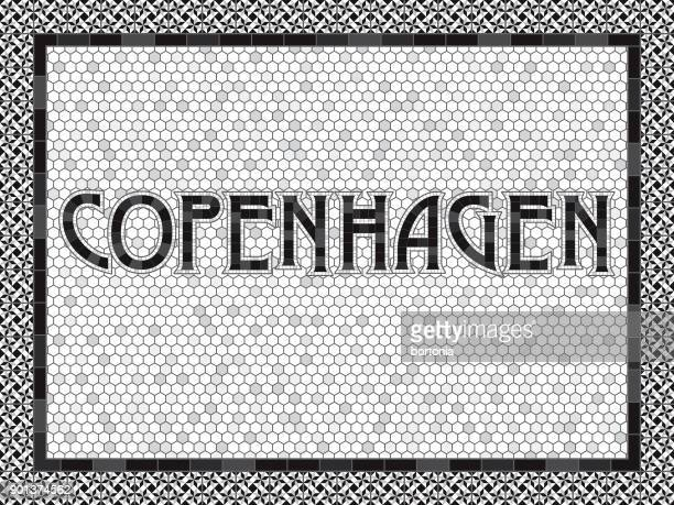 Copenhagen Old Fashioned Mosaic Tile Typography