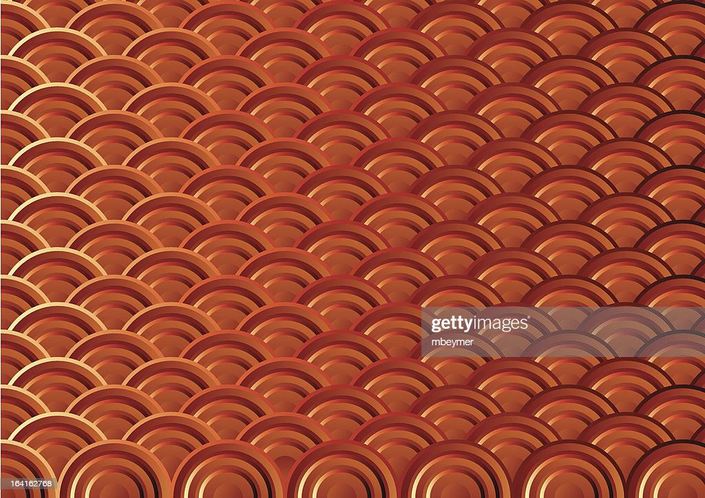 Copper Scallop Pattern