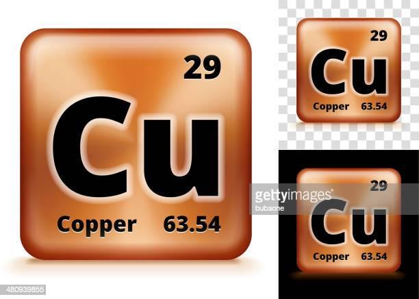 Copper Square Element Background Set