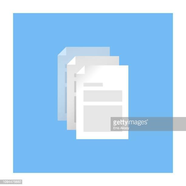 copy document icon - photocopier stock illustrations, clip art, cartoons, & icons