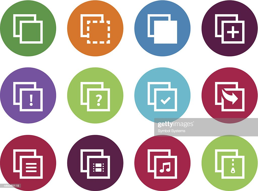 Copy Paste circle icons for Apps, Web Pages.