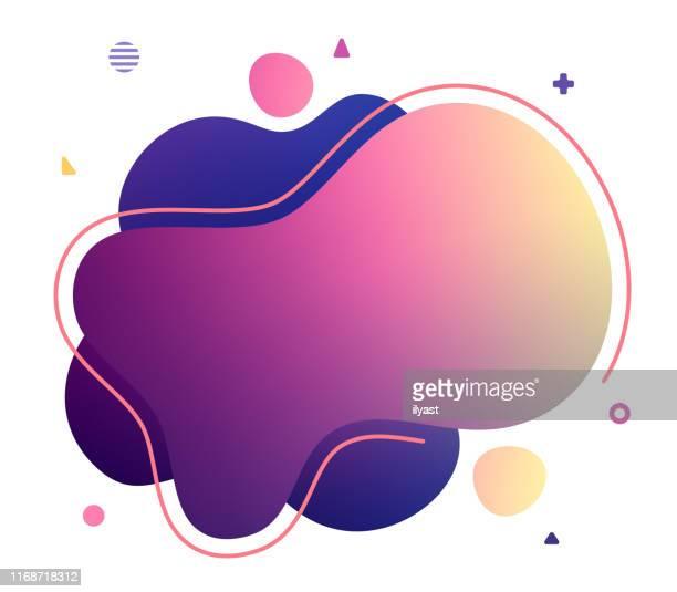 kopieren sie space text abstrakte flüssigvektor-illustration - bildschirmpräsentation stock-grafiken, -clipart, -cartoons und -symbole