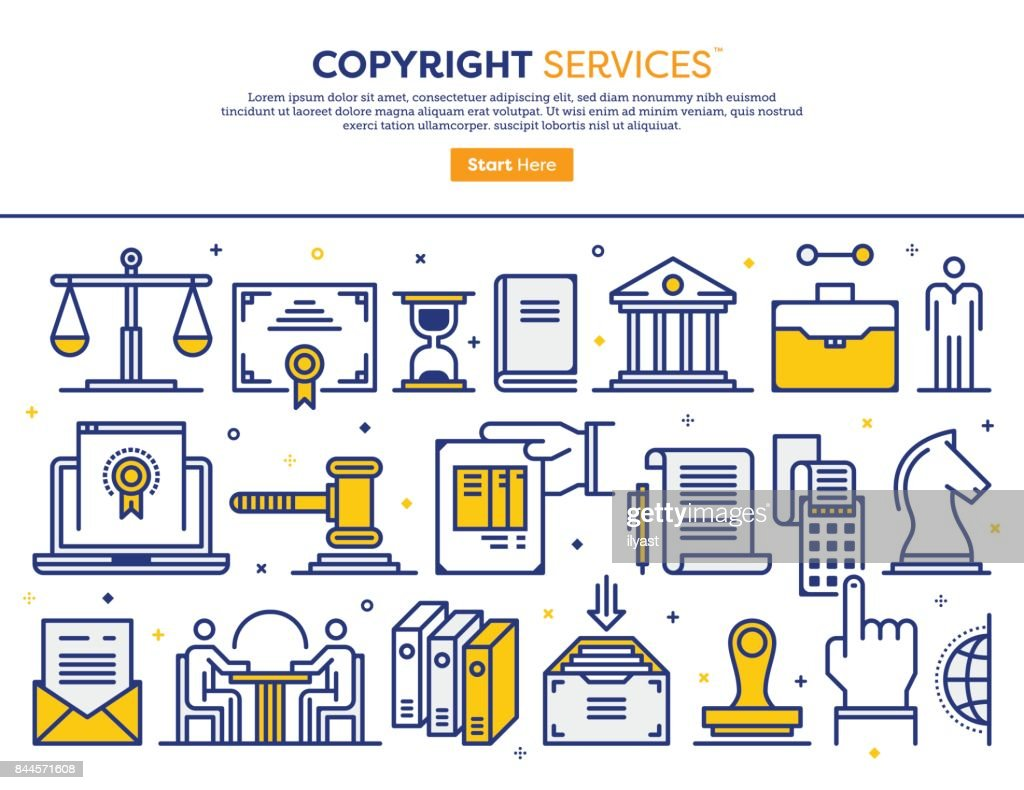 Copyright Services Concept : stock illustration