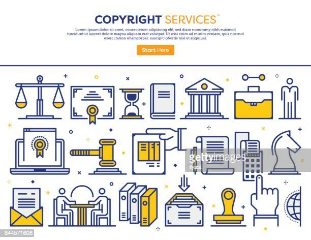 copyright services concept - validation stock illustrations, clip art, cartoons, & icons