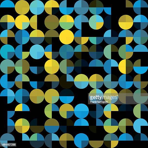 ilustraciones, imágenes clip art, dibujos animados e iconos de stock de coral reef patrón geométrico circle pie cuadrado - frank ramspott