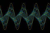 Coral Reef Sine Wave Line Pattern Horizontal