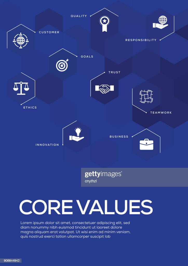 core values brochure template layout cover design vector art getty