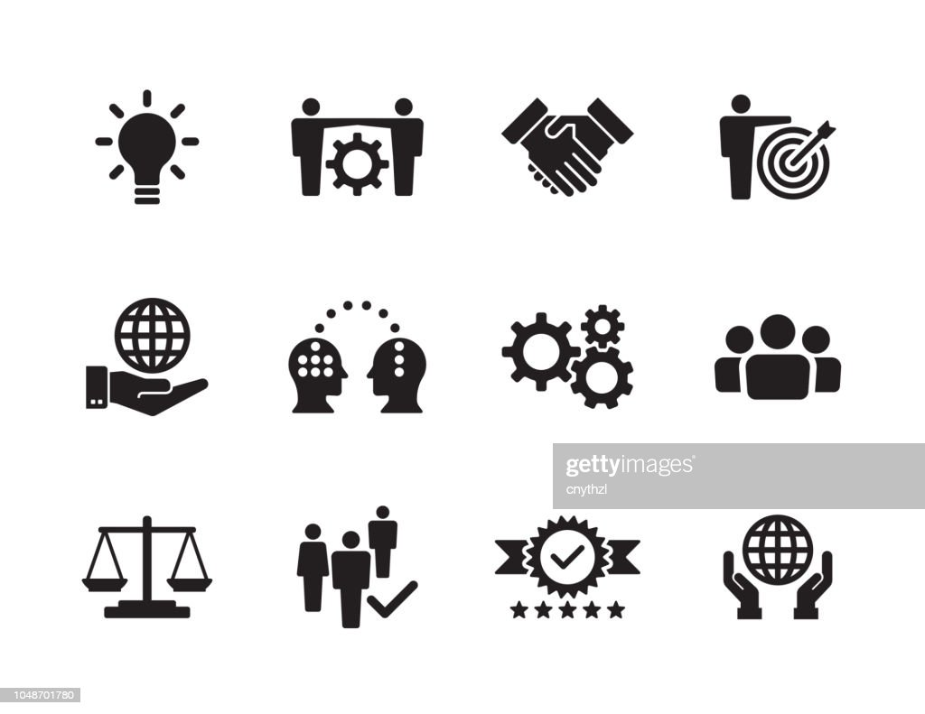 Core Values Icon Set : Stock Illustration
