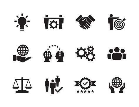 Core Values Icon Set - gettyimageskorea