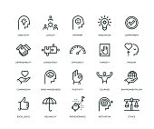 Core Values Icons - Line Series
