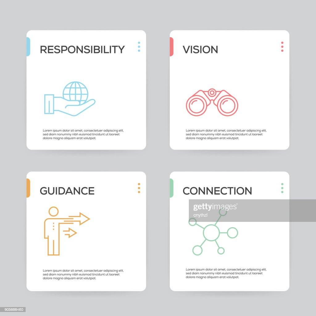 core values infographic design template vector art getty images