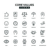 Core Values Line Icon Set