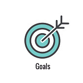 Core Values Outline / Line Icon Conveying a Specific Purpose