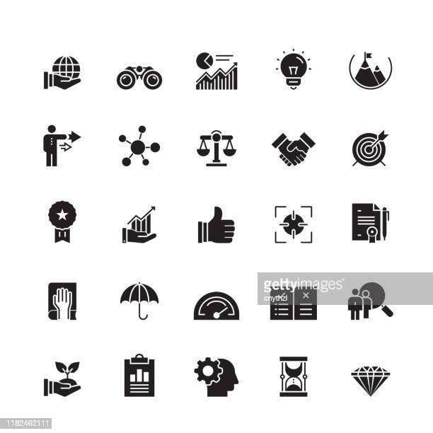 core values related vector icons - imagem a cores stock illustrations