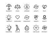 Core values set icon