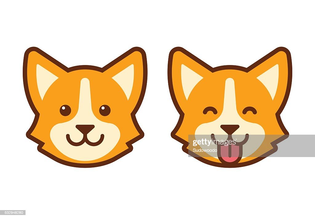 Corgi dog face icon