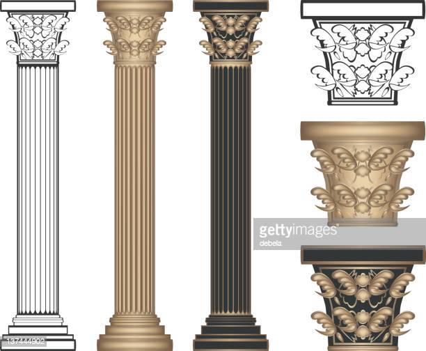 corinthian columns - corinthian stock illustrations, clip art, cartoons, & icons