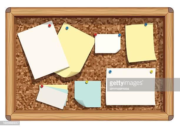 Cork board notes