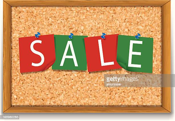 Corkboard with Sticky Notes | Sale Christmas Colors