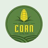 corn design with corn field