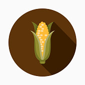 Corn Flat Design Thanksgiving Icon