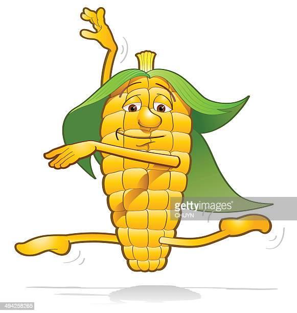 corn happiness - husk stock illustrations, clip art, cartoons, & icons